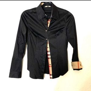 Burberry Britt check cuff button up shirt small